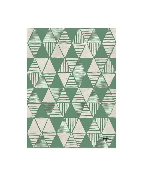 "Trademark Global Janelle Penner Spread the Love Pattern VIIB Canvas Art - 15.5"" x 21"""