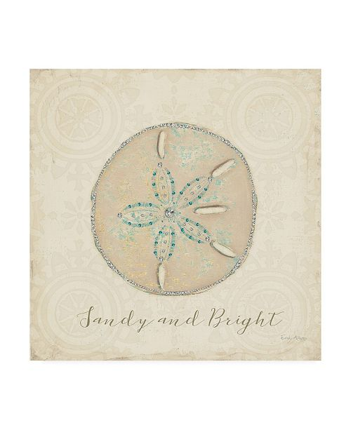 "Trademark Global Emily Adams Beach Treasures IV Christmas Canvas Art - 15.5"" x 21"""