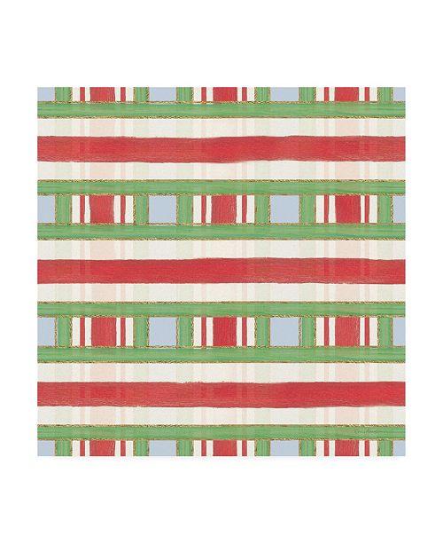 "Trademark Global Emily Adams Christmas Critters Bright Pattern VIA Canvas Art - 19.5"" x 26"""