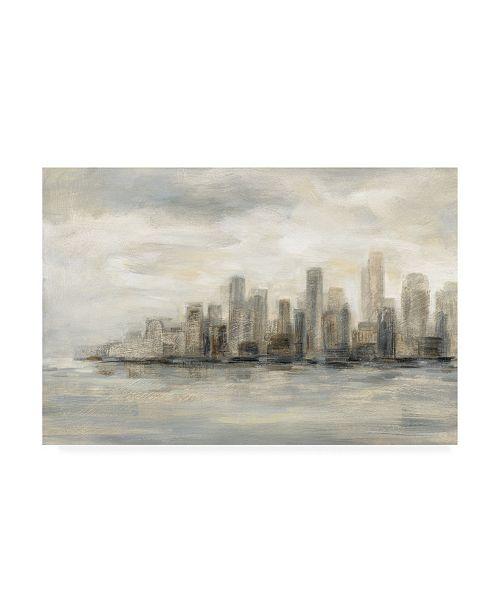 "Trademark Global Silvia Vassileva Manhattan Low Clouds Canvas Art - 15.5"" x 21"""