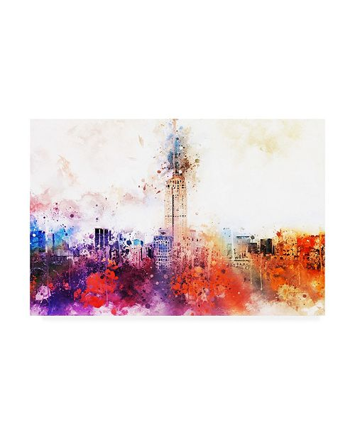 """Trademark Global Philippe Hugonnard NYC Watercolor Collection - Empire Skyline Canvas Art - 36.5"""" x 48"""""""