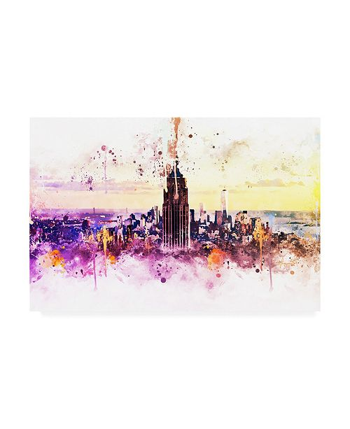"Trademark Global Philippe Hugonnard NYC Watercolor Collection - New York Skyline Canvas Art - 36.5"" x 48"""