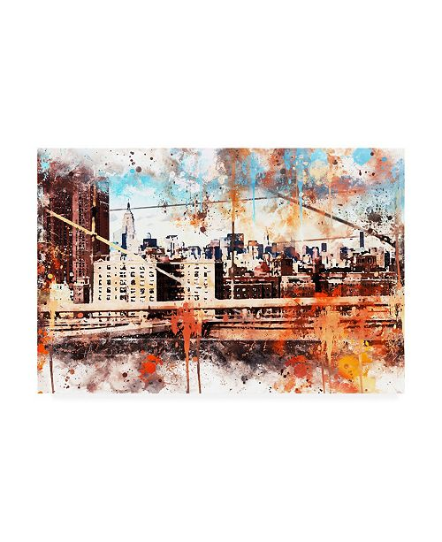 "Trademark Global Philippe Hugonnard NYC Watercolor Collection - Manhattan View Canvas Art - 27"" x 33.5"""