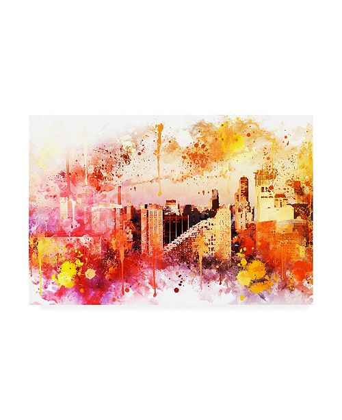 """Trademark Global Philippe Hugonnard NYC Watercolor Collection - End of the day Canvas Art - 19.5"""" x 26"""""""