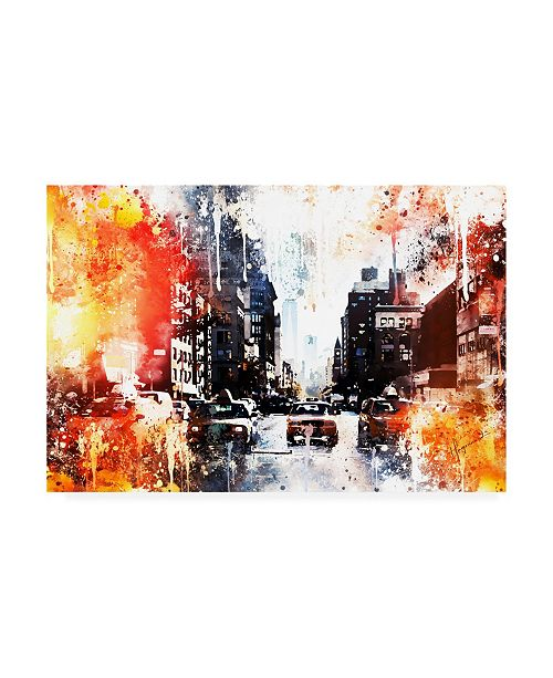 "Trademark Global Philippe Hugonnard NYC Watercolor Collection - Busy Canvas Art - 19.5"" x 26"""