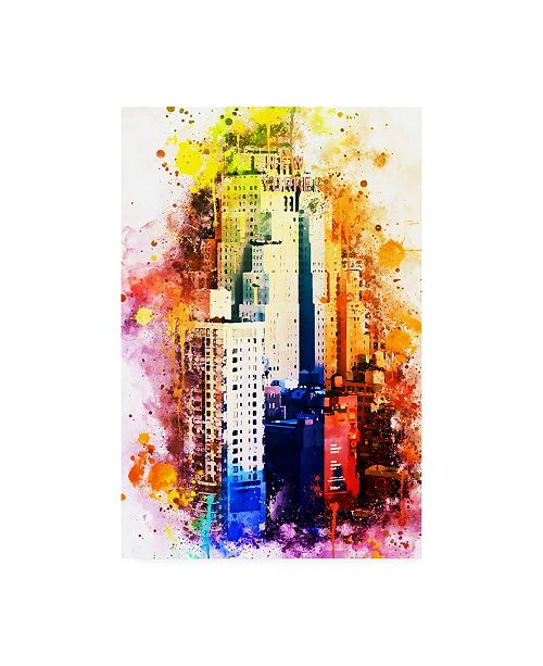 """Trademark Global Philippe Hugonnard NYC Watercolor Collection - the New Yorker Canvas Art - 19.5"""" x 26"""""""