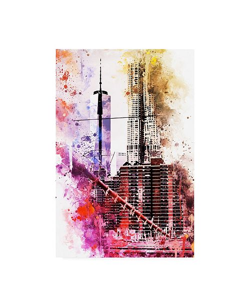 "Trademark Global Philippe Hugonnard NYC Watercolor Collection - Take Height Canvas Art - 15.5"" x 21"""