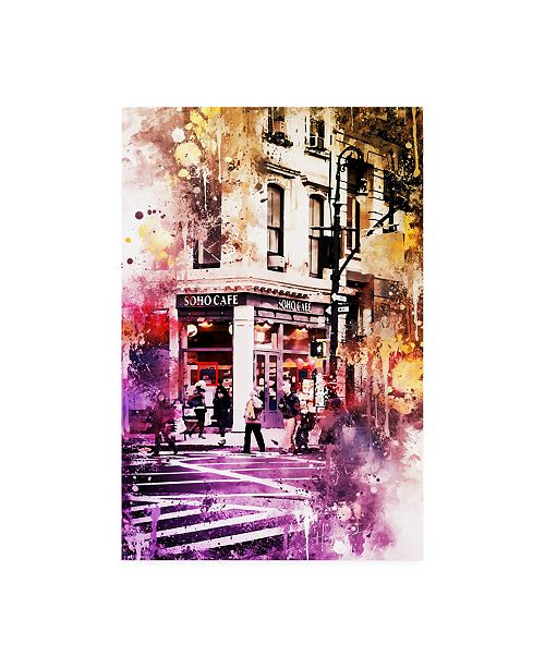 """Trademark Global Philippe Hugonnard NYC Watercolor Collection - Soho Cafe Canvas Art - 15.5"""" x 21"""""""