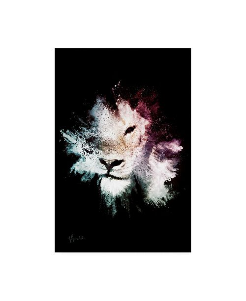 """Trademark Global Philippe Hugonnard Wild Explosion Collection - the Lion Canvas Art - 36.5"""" x 48"""""""