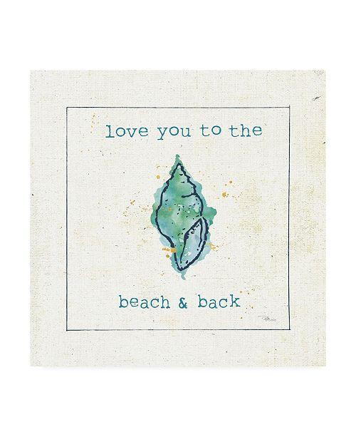 "Trademark Global Pela Studio Sea Treasures VI - Love you to the Beach and Back Canvas Art - 15.5"" x 21"""