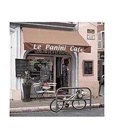 "Alan Blaustein Le Panini Cafe Canvas Art - 36.5"" x 48"""