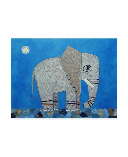 "Trademark Global Casey Crai Everything Else is Irrelephant Canvas Art - 19.5"" x 26"""
