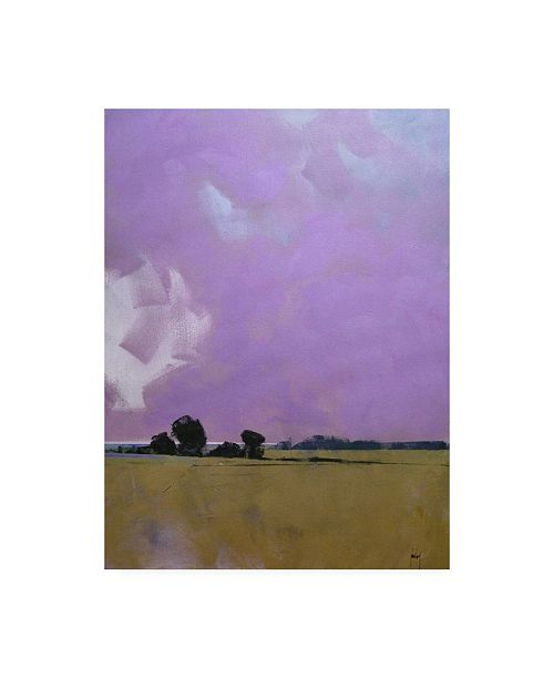 """Trademark Global Paul Baile Over the Fields to the Distant Sea Canvas Art - 15.5"""" x 21"""""""
