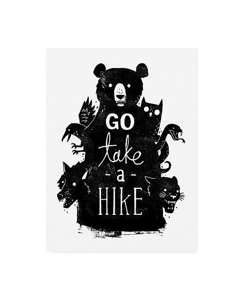 "Trademark Global Michael Buxto Go Take a Hike Canvas Art - 27"" x 33.5"""
