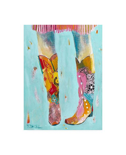 "Trademark Global Pamela K. Bee Cowgirl Boots Canvas Art - 19.5"" x 26"""