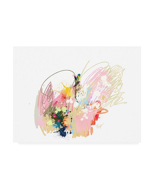 "Trademark Global Niya Christin Pink Abstract Canvas Art - 27"" x 33.5"""