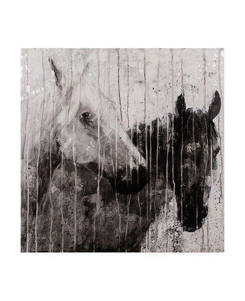 """Trademark Global Matt Flin A Pair Horses Canvas Art - 15.5"""" x 21"""""""