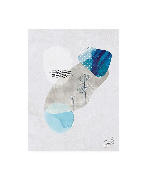 "Trademark Global Louis Duncan-H Indigo Blossom No. 2 Canvas Art - 19.5"" x 26"""