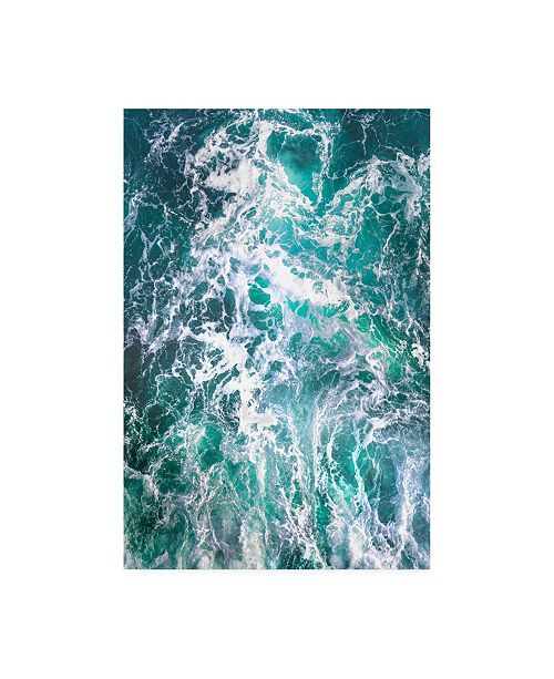 "Trademark Global Lynne Dougla Teal Embrace Canvas Art - 15.5"" x 21"""