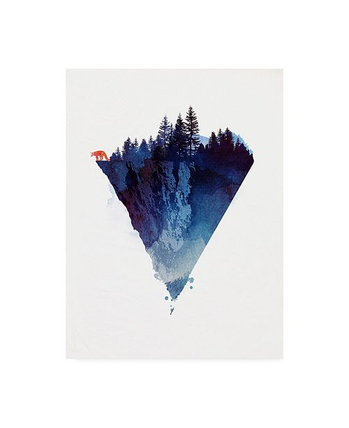 "Trademark Global Robert Farka Near to the Edge Blue Canvas Art - 19.5"" x 26"""