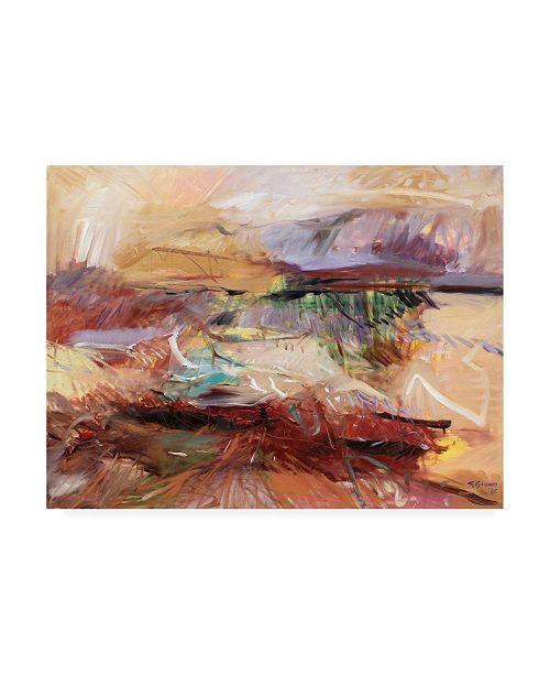 "Trademark Global Simona Goca Afternoon in the Desert Canvas Art - 27"" x 33.5"""