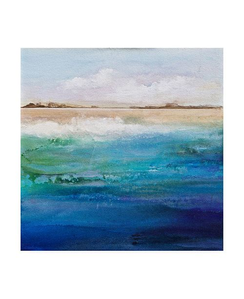 "Trademark Global Karen Hal Shoreline Canvas Art - 15.5"" x 21"""