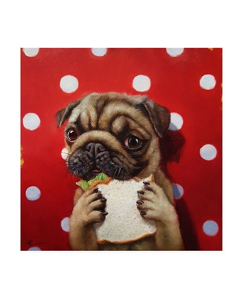"Trademark Global Lucia Hefferna Pugalicious Canvas Art - 19.5"" x 26"""