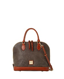 Dooney & Bourke Lizard-Embossed Leather Zip Zip Satchel, Created for Macy's
