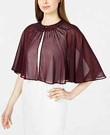 Beaded Chiffon Cape
