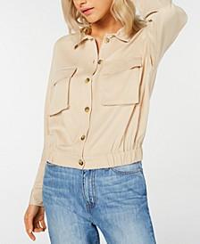 Elastic-Hem Utility Shirt