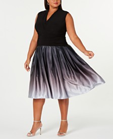 SL Fashions Plus Size Ruched-Waist Dress