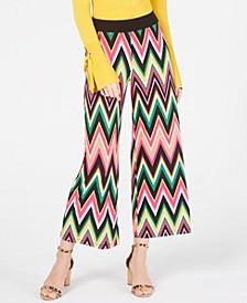 INC Multicolored Chevron Culottes, Created for Macy's