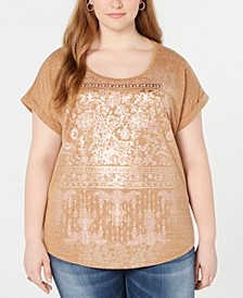 Plus Size Graphic-Print T-Shirt, Created for Macy's