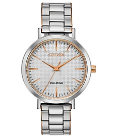 Drive From Eco-Drive Women's Two-Tone Stainless Steel Bracelet Watch 36mm