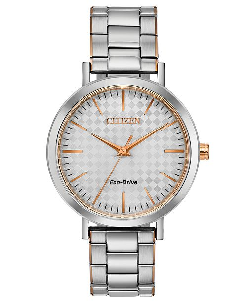 Citizen Drive From Eco-Drive Women's Two-Tone Stainless Steel Bracelet Watch 36mm