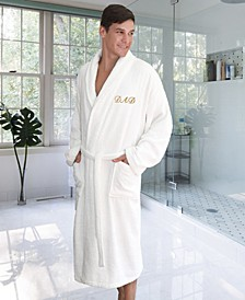 """Terry Bathrobe Embroidered with """"Dad"""""""