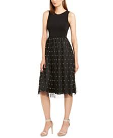Calvin Klein Faux-Pearl Detail Dress
