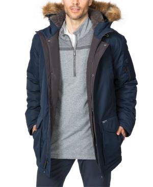 Hawke & Co. Outfitter Men's Logan Faux-fur-trim Parka In Hawke Navy