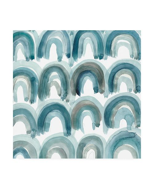 "Trademark Global Chariklia Zarris Freshwater Tide VIII Canvas Art - 27"" x 33"""