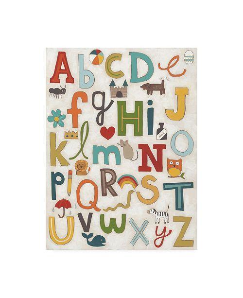 "Trademark Global June Erica Vess Alphabet Soup Collage Canvas Art - 20"" x 25"""
