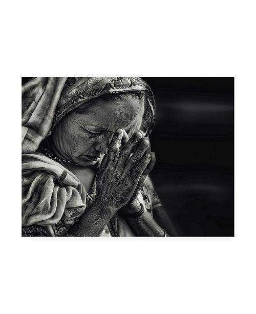 """Trademark Global Piet Flour Prayers Woman Canvas Art - 37"""" x 49"""""""