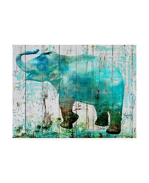 "Trademark Global Irena Orlov Teal Blue Elephant Canvas Art - 20"" x 25"""