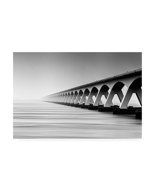 "Trademark Global Wim Denijs The Endless Bridge Canvas Art - 20"" x 25"""