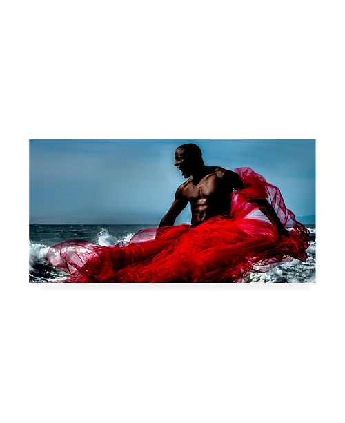 "Trademark Global Peter Muller Photography Fire and Water Warrior Canvas Art - 37"" x 49"""