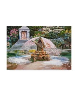David Lloyd Glover Spring Fountain and Pond Canvas Art - 15