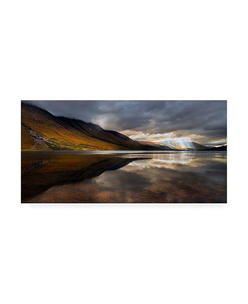 "Trademark Global John Fan Orange Breakthrough Canvas Art - 15"" x 20"""