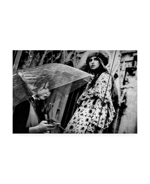 "Trademark Global Tatsuo Suzuki Glancing at An Umbrella Canvas Art - 20"" x 25"""