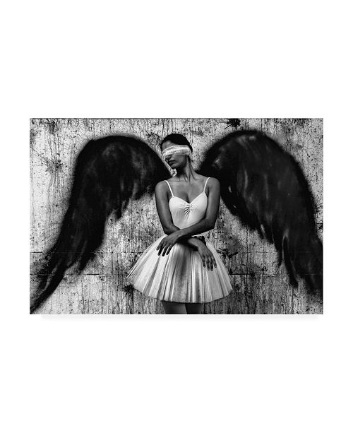 "Trademark Global Paulo Medeiros Angel Concrete Blindfold Canvas Art - 20"" x 25"""