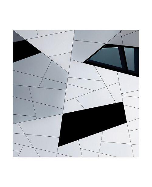 """Trademark Global Jeroen Van De Facade Lines Canvas Art - 15"""" x 20"""""""