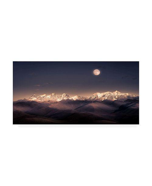 "Trademark Global Qiye Moonlight Peak Canvas Art - 20"" x 25"""